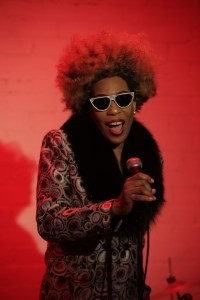 "Macy Gray still from ""Buddha"" Video shoot. Photo courtesy of macy gray inc. Used with permission."