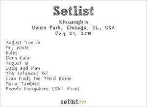 Khruangbin @ Pitchfork Music Festival 7/21/19. Setlist.