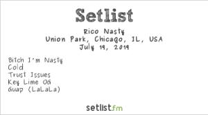 Rico Nasty @ Pitchfork Music Festival 7/19/19. Setlist.