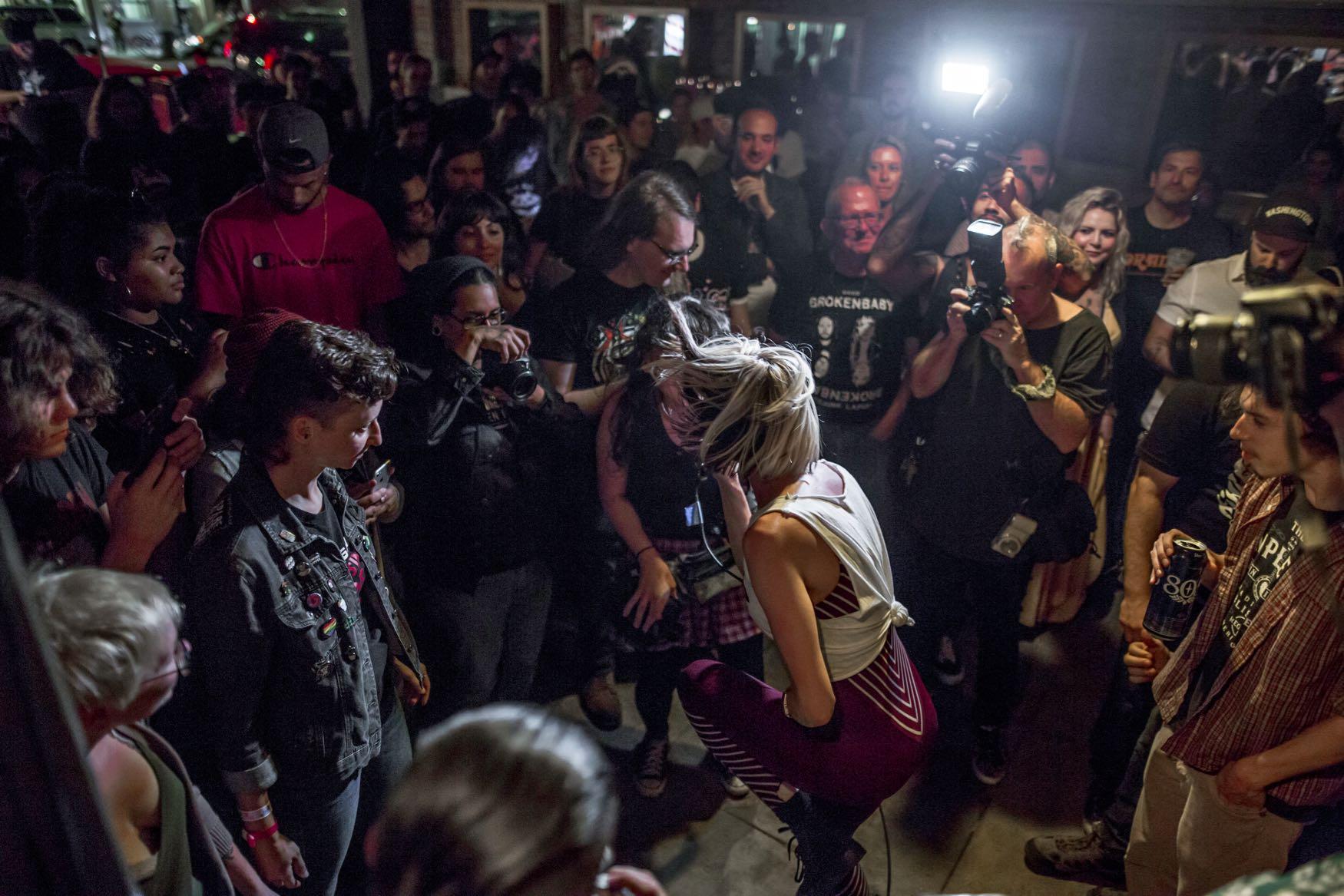 Broken Baby for Bands In A Barbershop @ Echo Park Rising 8/15/19. Photo by Derrick K. Lee, Esq. (@Methodman13) for www.BlurredCulture.com.