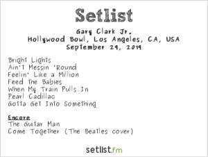 Gary Clark Jr @ Hollywood Bowl 9/29/19. Setlist.