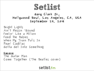 Gary Clark Jr @ Hollywood Bowl 9/29/19. Setlist.