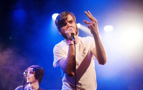 Titus Andronicus' Patrick Stickles, This Is London Calling @ Bowery Ballroom 12/14/19. Photo by Vivian Wang (@Lithophyte) for www.BlurredCulture.com.