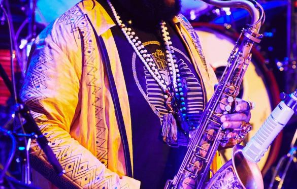 Kamasi Washington @ Kings Theatre  2/20/20. Photo by Maeghan Donohue (@PlaceToHidePlaceToHustle) for www.BlurredCulture.com.