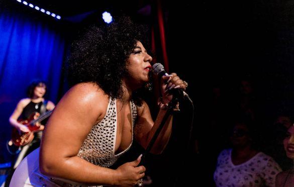 Jen Awad @ Hotel Cafe 7/8/21. Photo by Derrick K. Lee, Esq. (@Methodman13) for www.BlurredCulture.com.