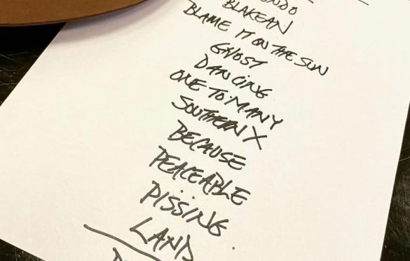 Setlist for 9/3/21. Pulled from Patti Smith's Instagram page @ThisIsPattiSmith.