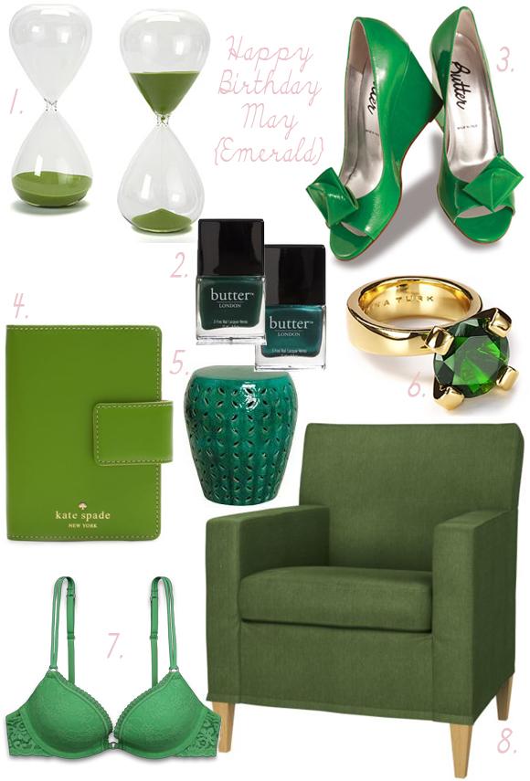 Happy Birthday May Emerald Blush And Jelly