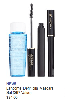 Lancome Defincils Mascara Set with eyeliner and makeup remover
