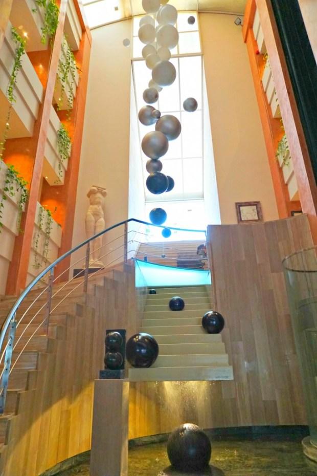 The lobby in the Hotel Estela (aka Hotel del Arte) in Sitges, Spain