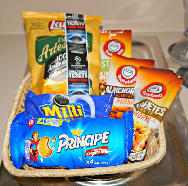 Our room at Hotel Estela had a mini kitchenette. I love looking at snacks in different countries.