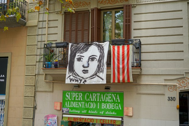 Why? Painting on a balcony in Barcelona
