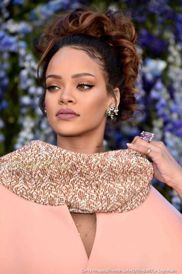 Rihanna at the Dior Show at the Louvre in Paris fashion week