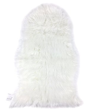 Faux sheepskin rug- I use this over my vanity seat to make it cuter.