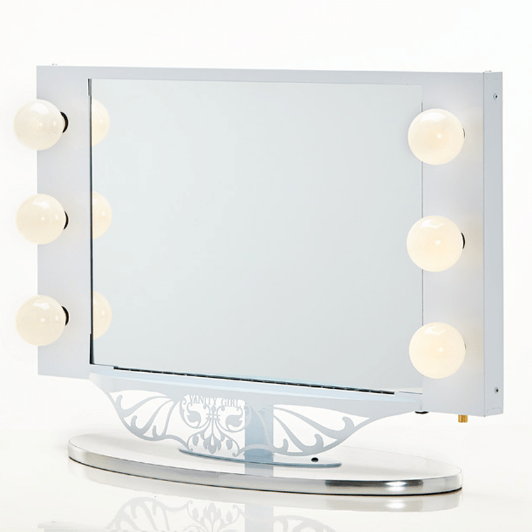 Vanity Mirror With Lights White : DIY Ikea ALEX Vanity - Blushing in Hollywood