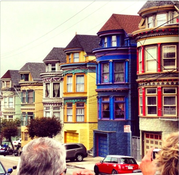 The famous Painted Ladies homes in San Francisco