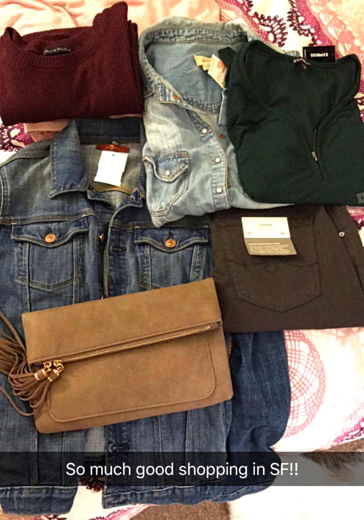 Shopping haul from Haight/Ashbury in San Francisco- jeans, sweater, clutch, jacket