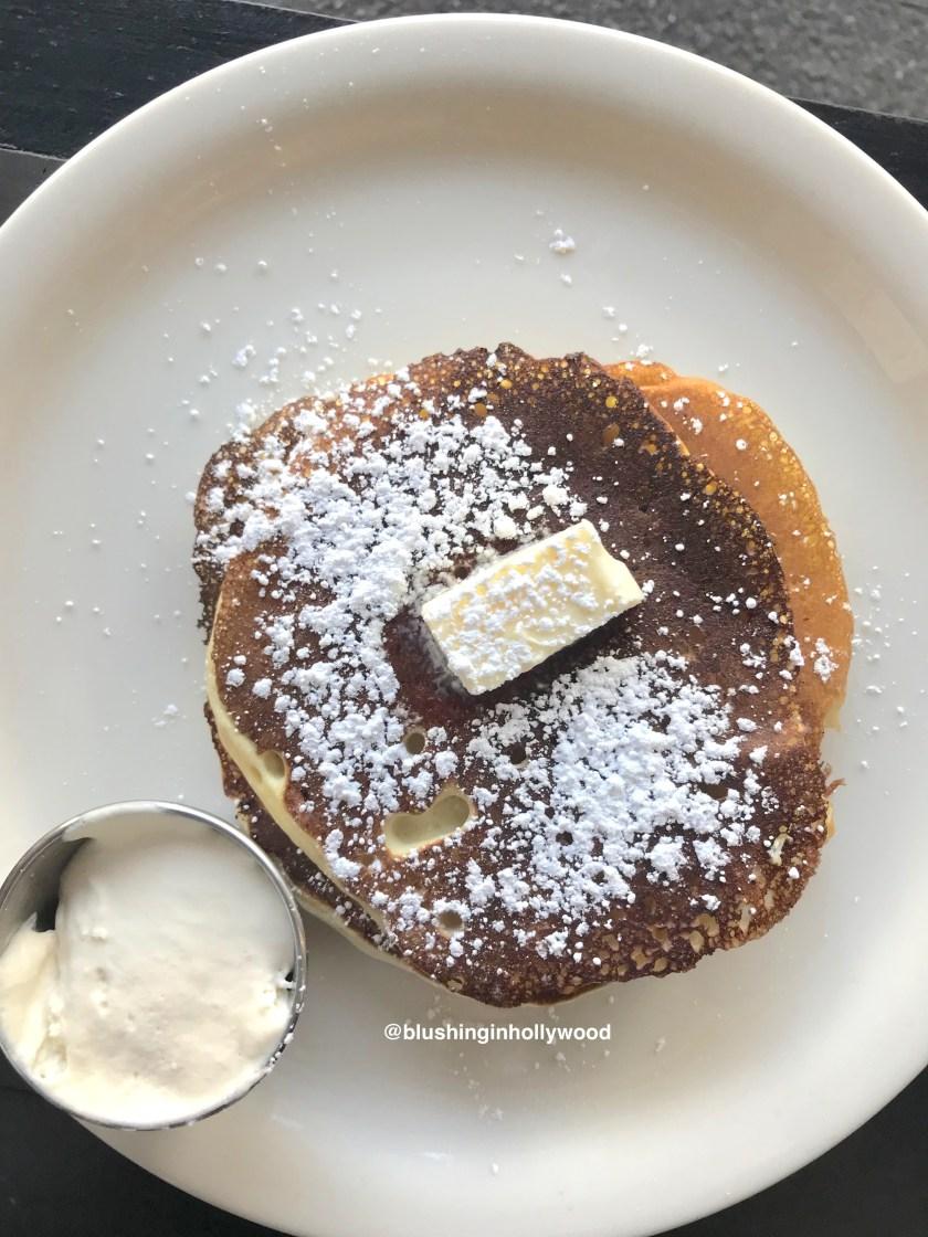 Ricotta Pancakes at Tiago Cafe on Hollywood Blvd.