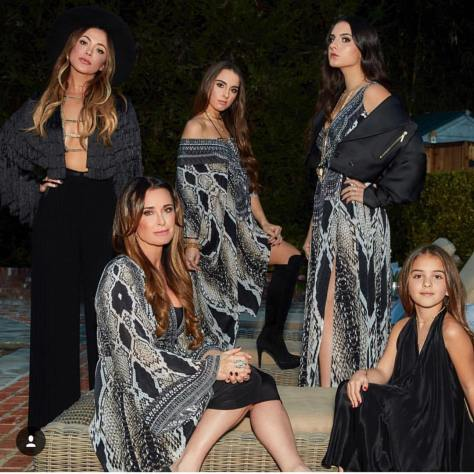 Kyle Richards from Real Housewives of Beverly Hills with her stunning daughters. Photo from @glambypamelab on Instagram