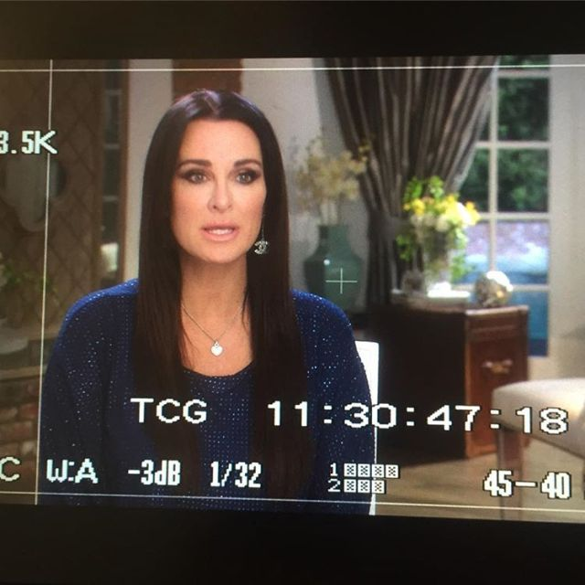 Kyle Richards wearing Stila Stay All Day Liquid Lipstick in Bellissima. Photo from @makeupnhairbypamellab on IG