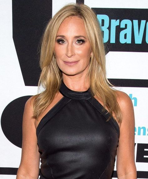Sonja Morgan of Real Housewives of New York City looking bronzed and radiant at a Bravo premier.