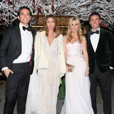 Carole Radziwell and Tinsley Mortimer at the Winter Wonderland Ball 2016
