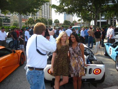 "Annabelle DeSisto and I back in our ""Car Modeling"" days in Palm Beach (or is it West Palm Beach?)"