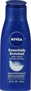 Nivea Essentially Enriched body lotion hydrates and moisturizes the whole body. It makes the body glow so beautifully it looks like you're wearing highlighter!