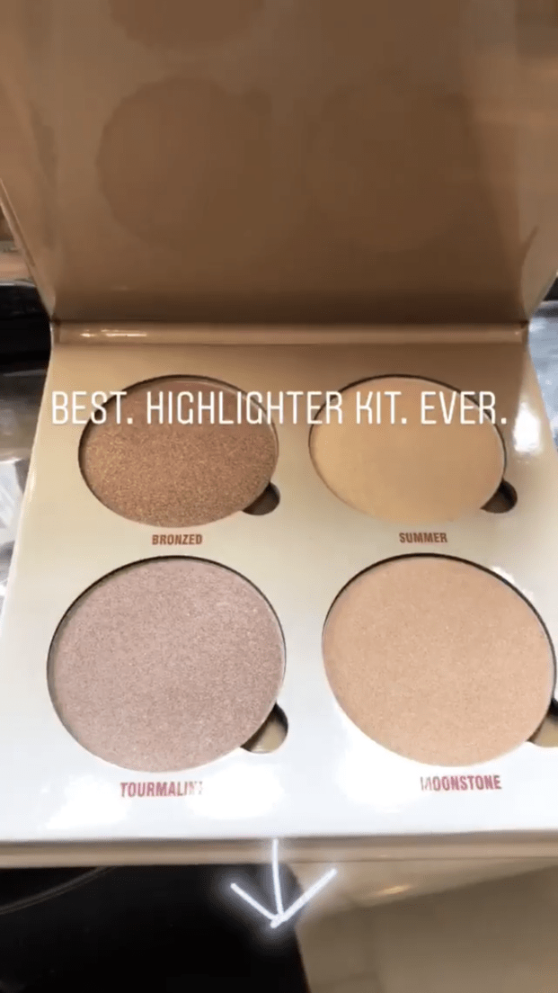 Naomie recently posted on her IG story that the Anastasia Beverly Hills Sun Dipped Glow Kit is the Best. Highlighter kit. Ever.