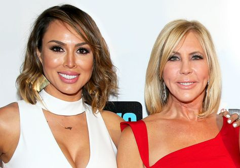 Kelly Dodd and her Real Housewives of Orange County costar Vicki Gunvulson