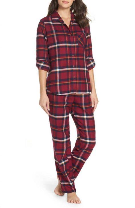Make + Mode Girlfriend Pajamas in Burgandy Berry Annie Plaid