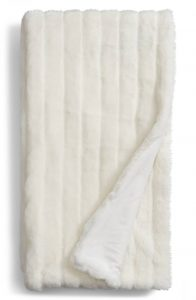 Sheared Stripe Faux Fur Throw by Nordstrom at Home
