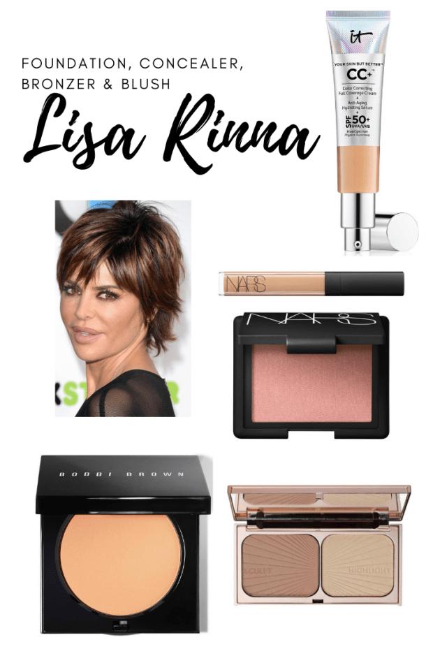 Lisa Rinna's go to foundation, concealer, blush and bronzer.