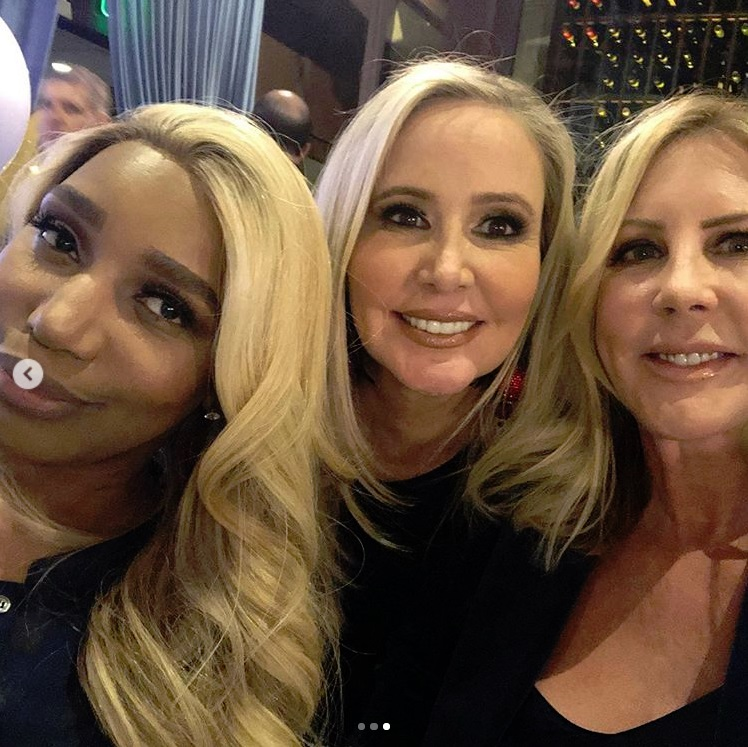 Real Housewives NeNe Leakes, Shannon Beador, and Vicki Gunvalson at Andy Cohen's baby shower