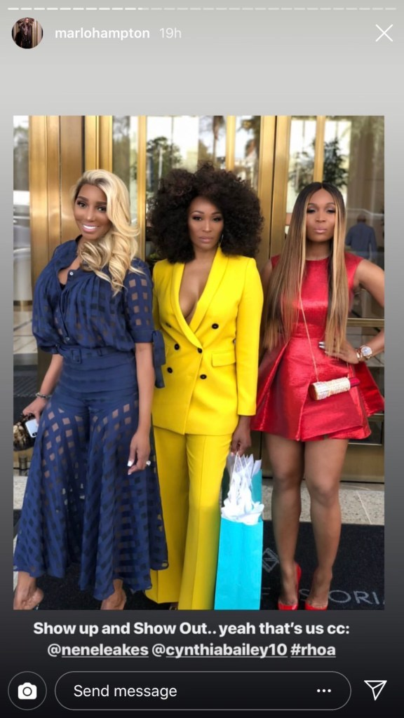 Nene Leakes, Cynthia Bailey, and Marlo Hampton at the Waldorf Astoria Hotel in Beverly Hills