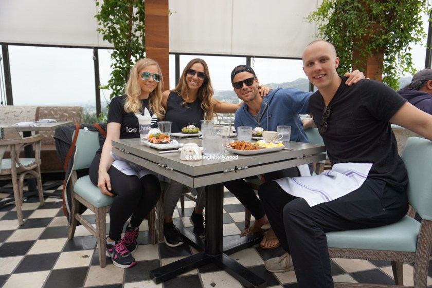 Me, my sister, my brother in law, and my brother having brunch at The Highlight Room for my brother's birthday