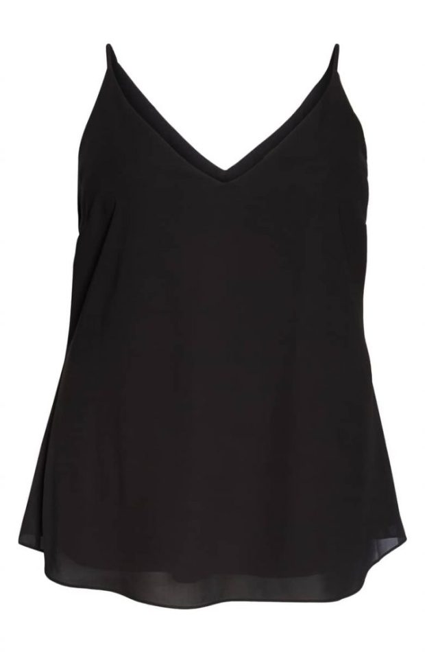 City Chic Double Layered V-Neck Camisole Top comes in sizes 14-26 and is available at Nordstrom