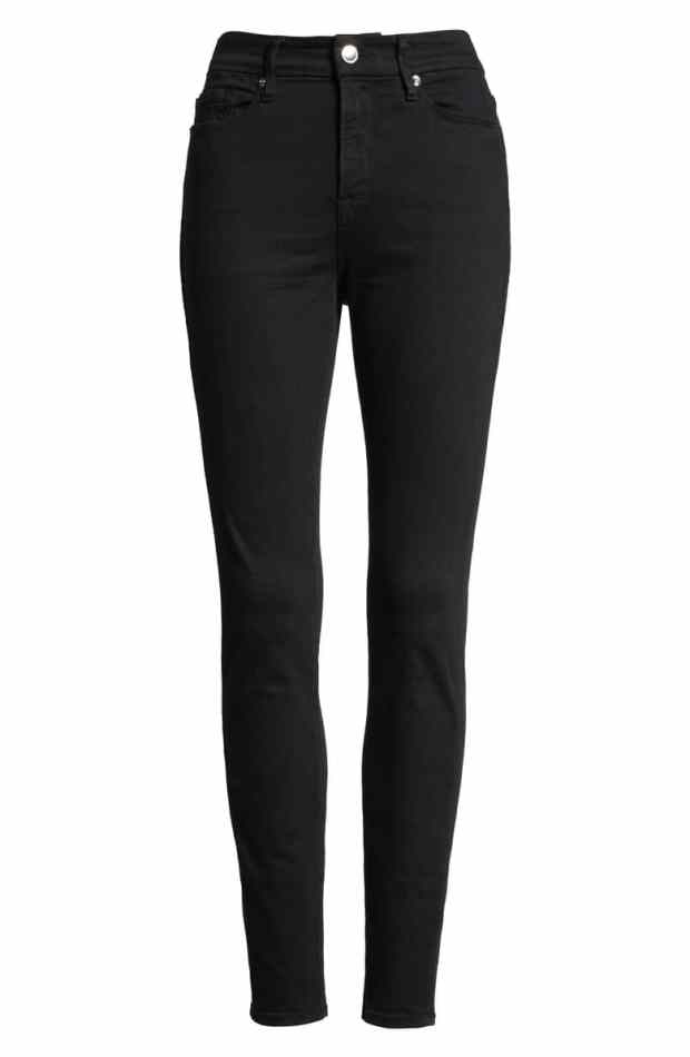 Good American Good Legs  Skinny Jeans in Black are hands down the best black jeans ever.