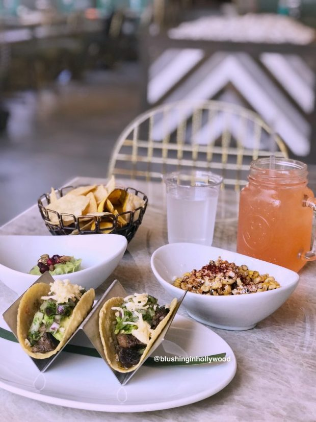 Tacos, Guacamole, Agua Fresca, and Street Corn at Tocaya Organica in Hollywood