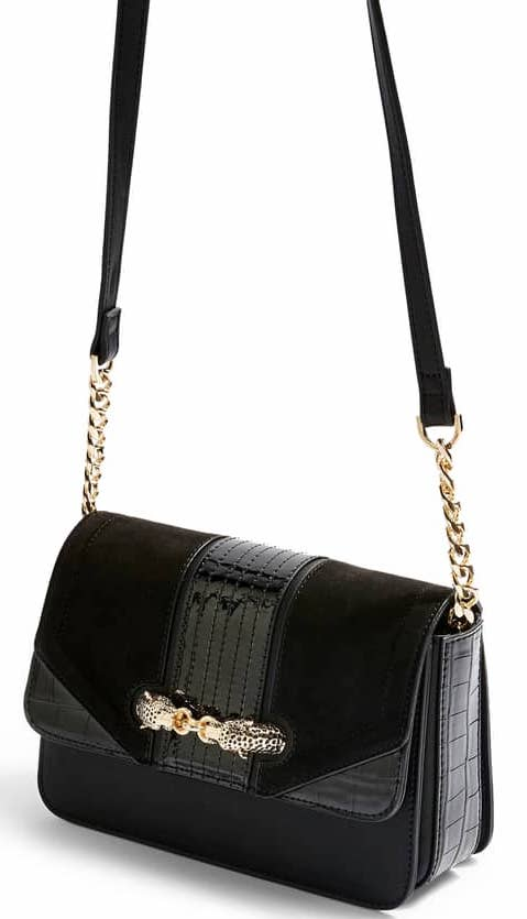 Topshop Cheetah Crossbody Shoulder Bag