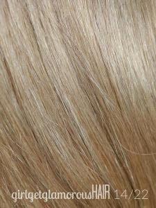 Girl Get Glamorous Clip in Hair Extensions on 14:22 Beach Day Blonde Color Swatch