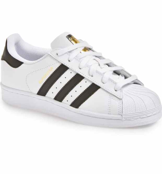 Adidas Superstar Sneakers in Black and White