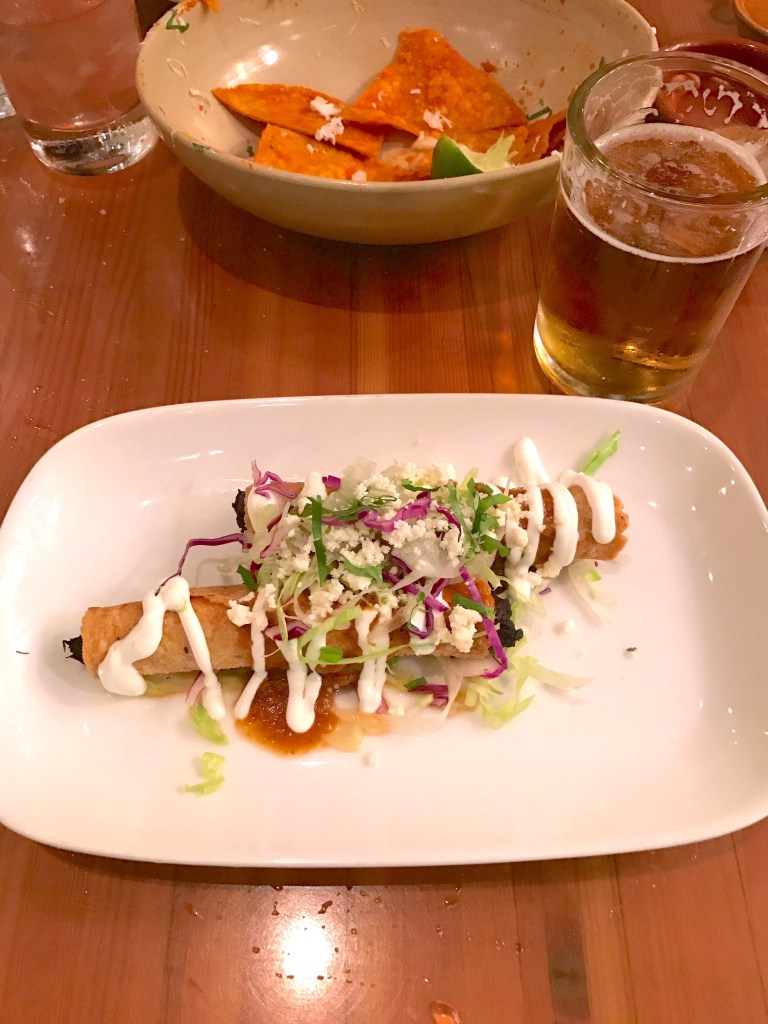 Taquitos and beer at Nopalito in San Francisco