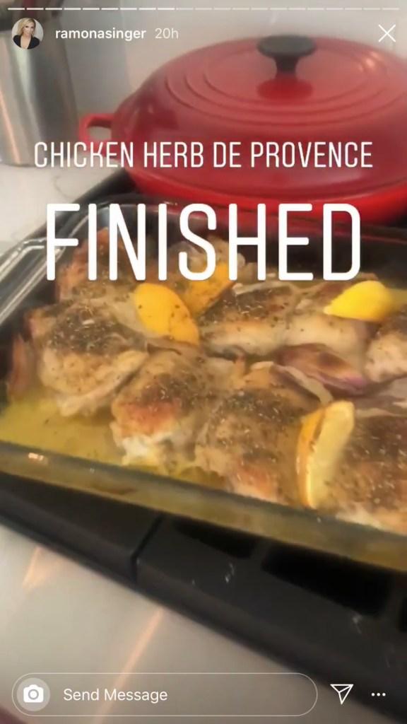 Ramona Singer Chicekn Herb de Provence Recipe from Instagram