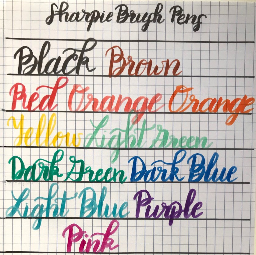 Sharpie Brush Pens Calligraphy Example