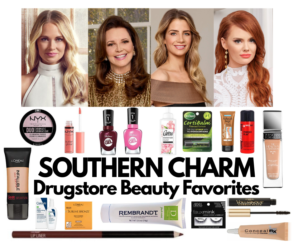 Southern Charm Drugstore Beauty Favorites Cameran Eubanks Patricia Altschul Naomie Olindo and Kathryn Calhoun Dennis makeup and beauty affordable favorites