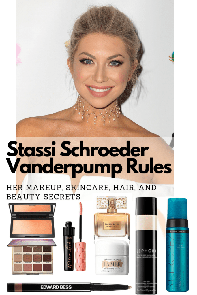 Stassi Schroeders makeup, hair, and self tan routine