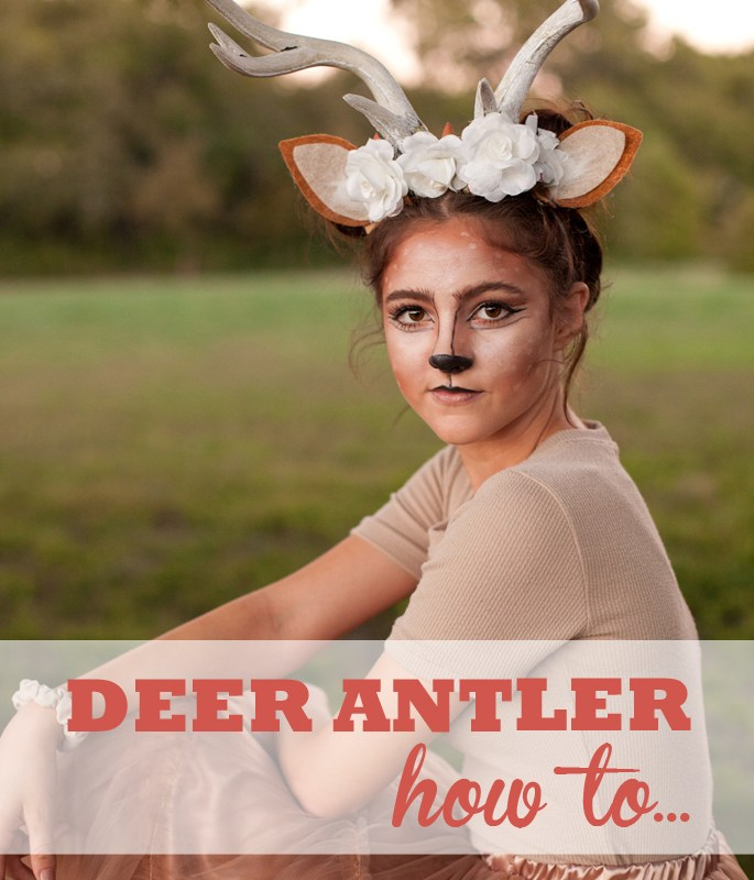 Learn how to make a store-bought set of antlers into a feminine headpiece for your Halloween costume!