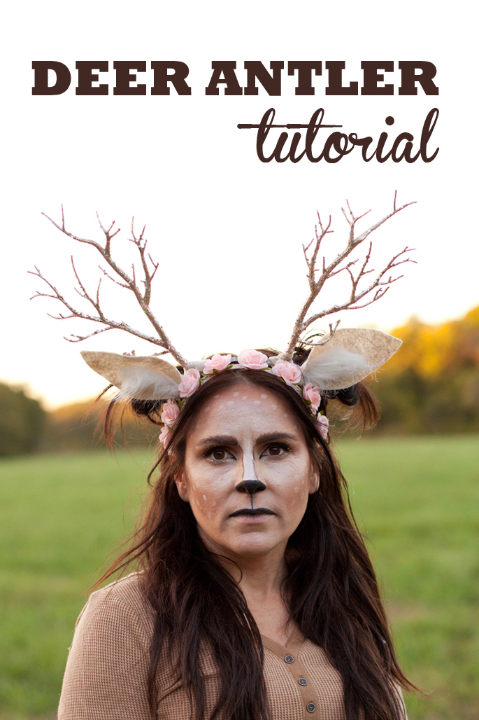 Learn how to make a unique flower crown antler headband for your Halloween  deer costume! aa8580313d8
