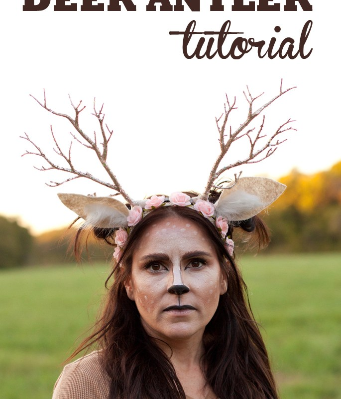 Learn how to make a unique flower crown antler headband for your Halloween deer costume!