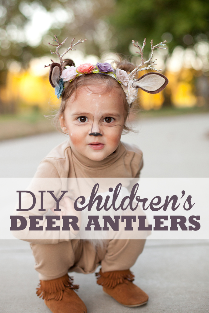 Learn how to create a darling flower crown antler headband for your child.